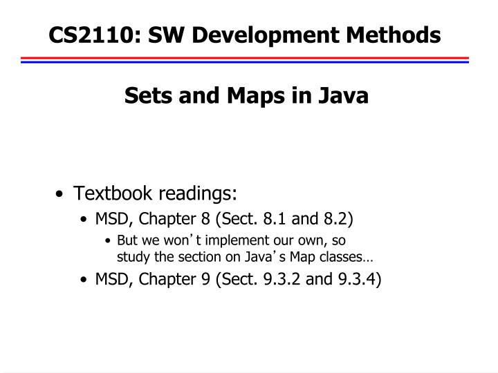 Cs2110 sw development methods