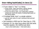 over riding hashcode in java 2