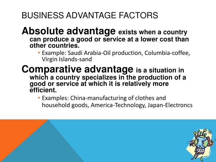 Business Advantage Factors