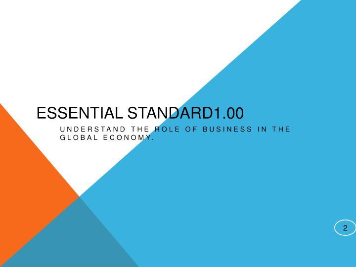 Essential Standard1.00