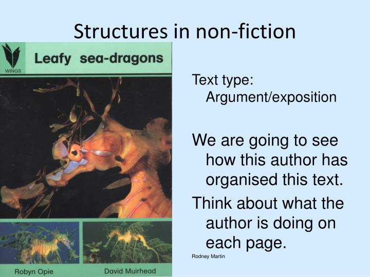Structures in non-fiction