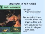 structures in non fiction