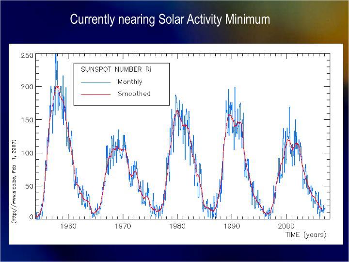 Currently nearing Solar Activity Minimum