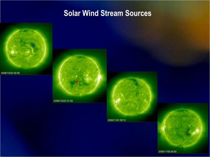 Solar Wind Stream Sources