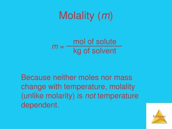 mol of solute