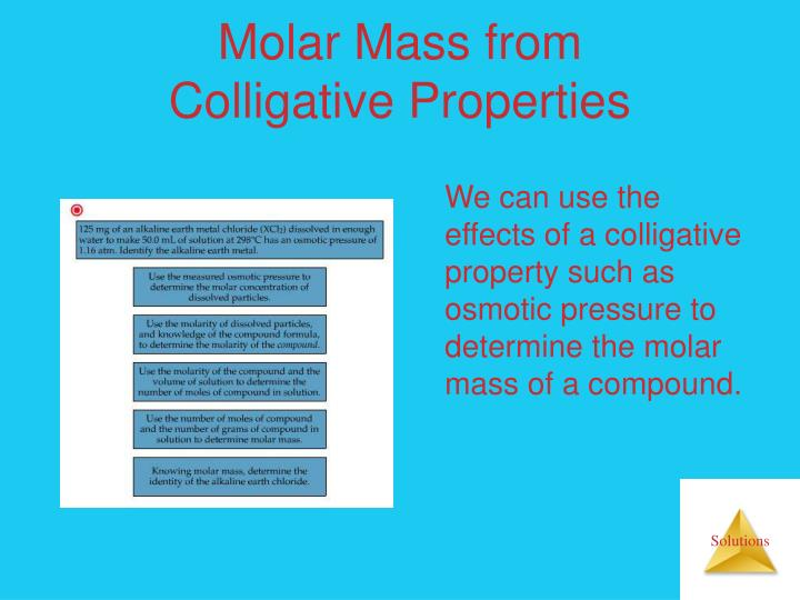 Molar Mass from