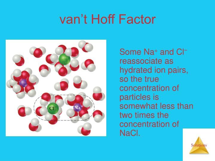 van't Hoff Factor