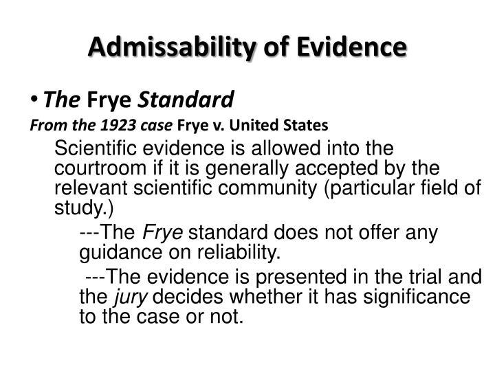 Admissability