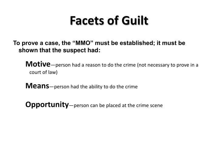 Facets of Guilt