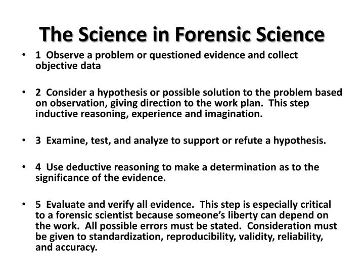 The Science in Forensic Science
