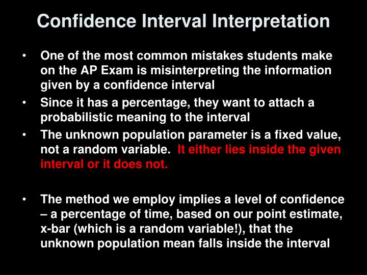 Confidence Interval Interpretation