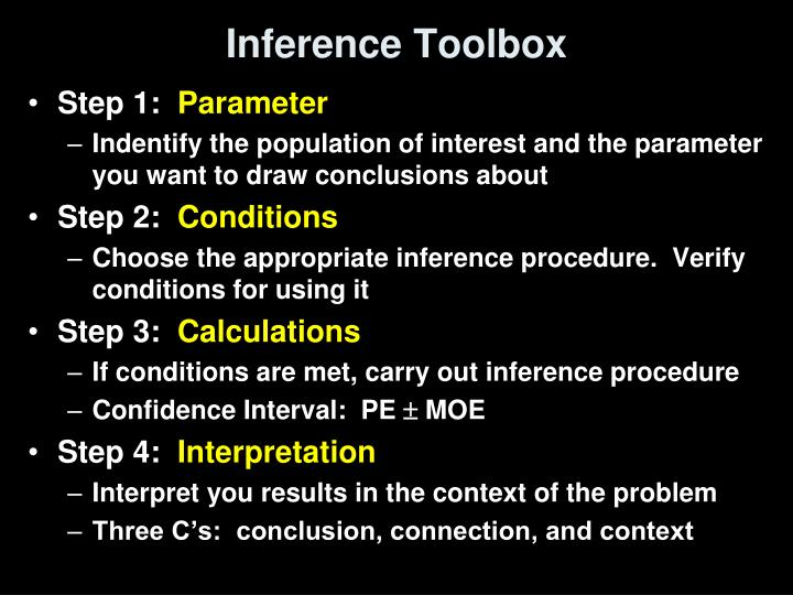 Inference Toolbox