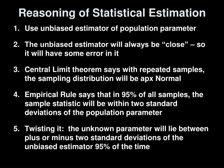 Reasoning of Statistical Estimation