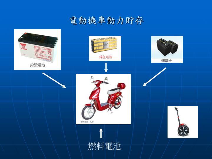 電動機車動力貯存