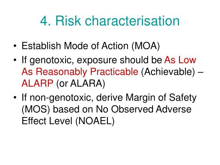 4. Risk characterisation