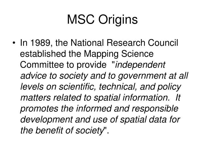 MSC Origins
