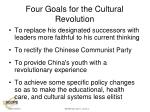 four goals for the cultural revolution