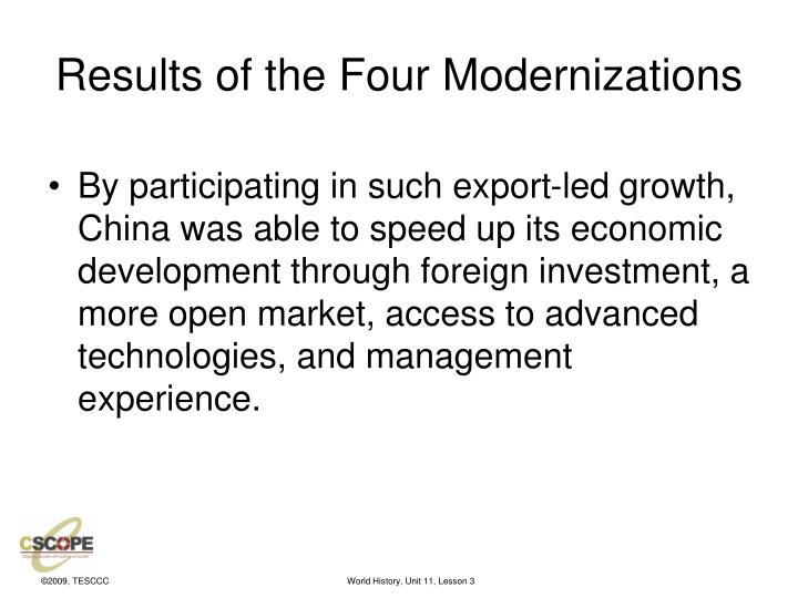 Results of the Four Modernizations