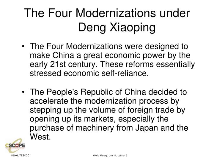The Four Modernizations under Deng Xiaoping