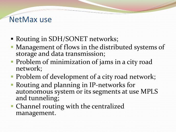 NetMax use
