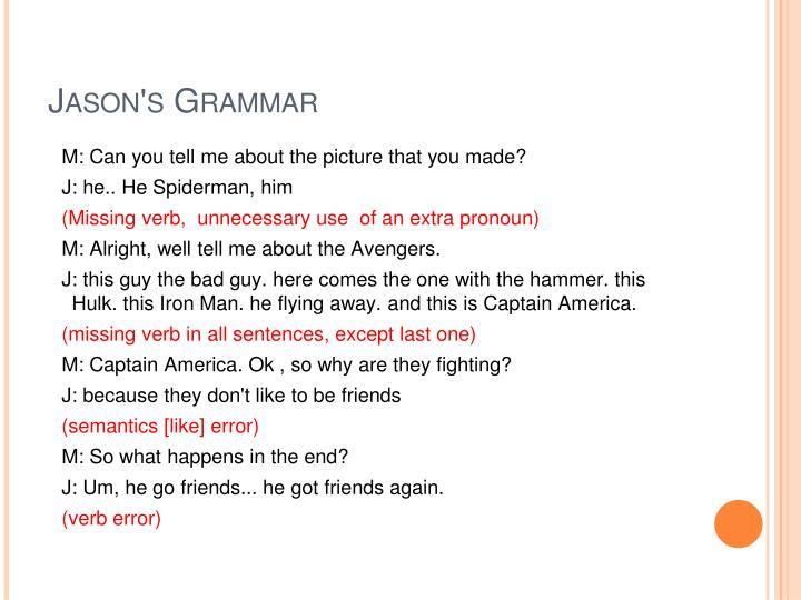 Jason's Grammar