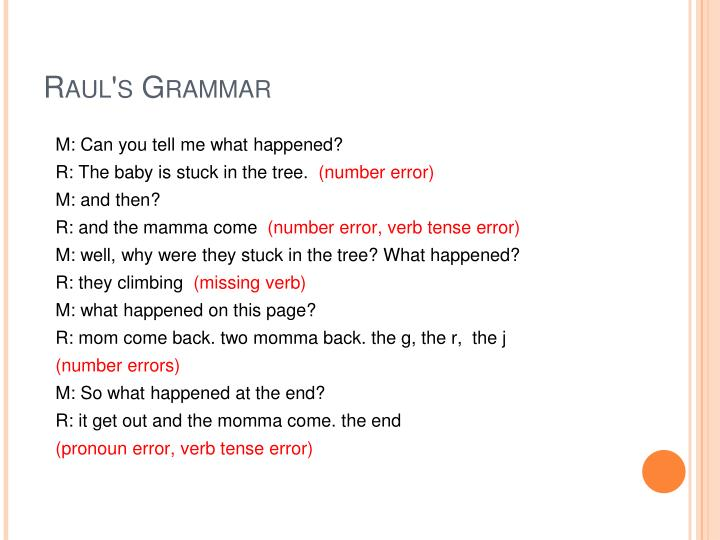Raul's Grammar