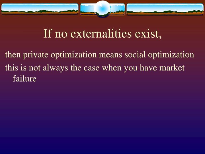 If no externalities exist,