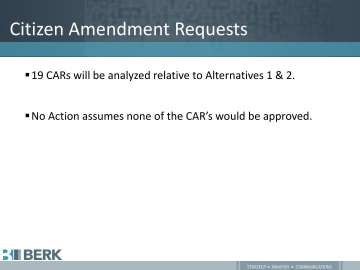 Citizen Amendment Requests