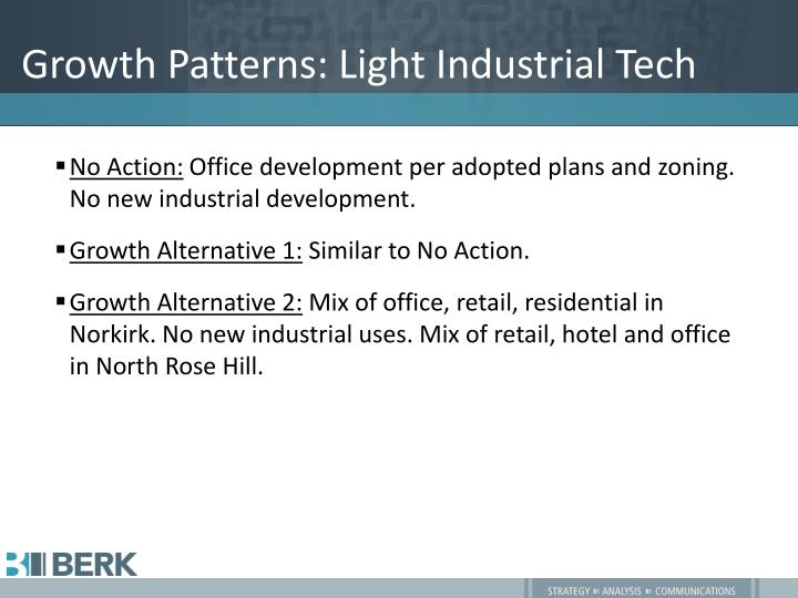 Growth Patterns: Light Industrial Tech