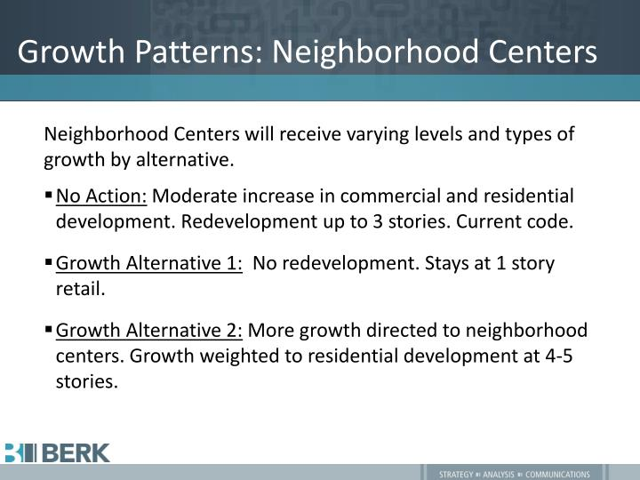 Growth Patterns: Neighborhood Centers