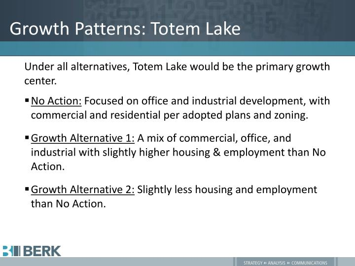Growth Patterns: Totem Lake