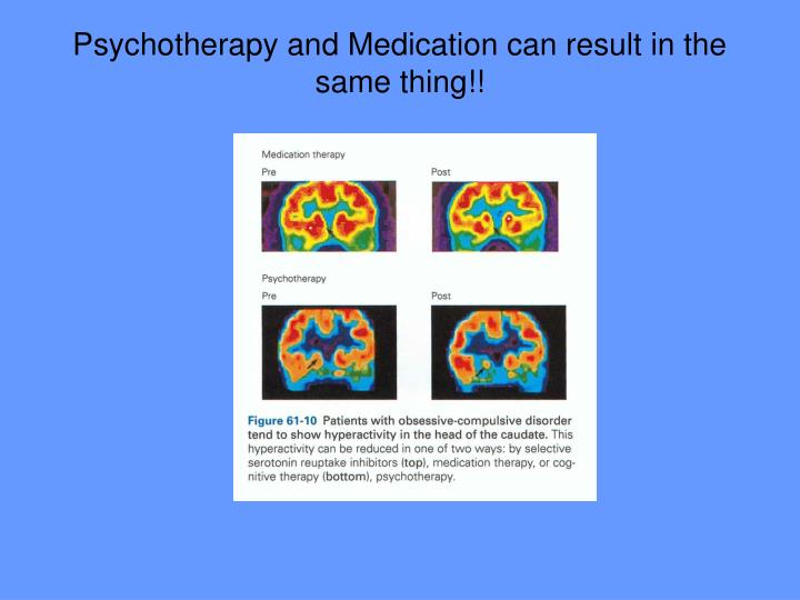 Psychotherapy and Medication can result in the same thing!!