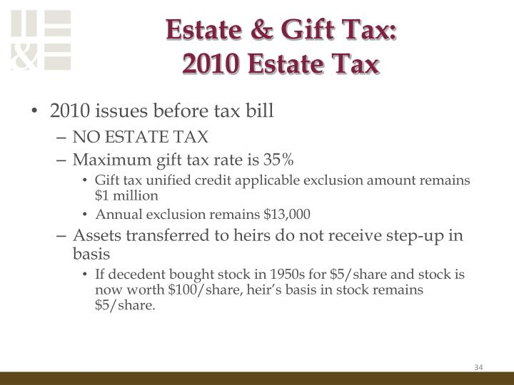 Estate & Gift Tax:
