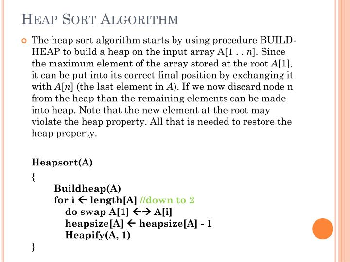 Heap Sort Algorithm