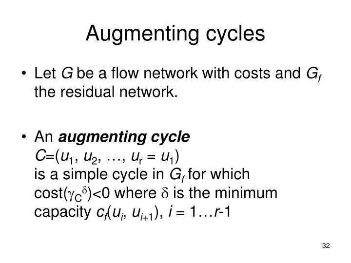Augmenting cycles