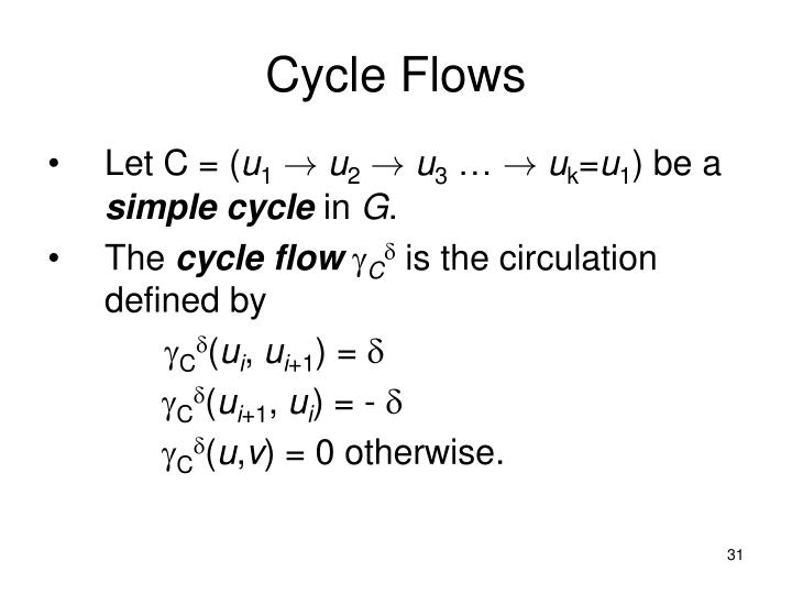 Cycle Flows