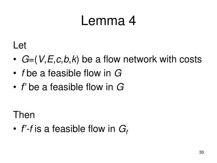 Lemma 4