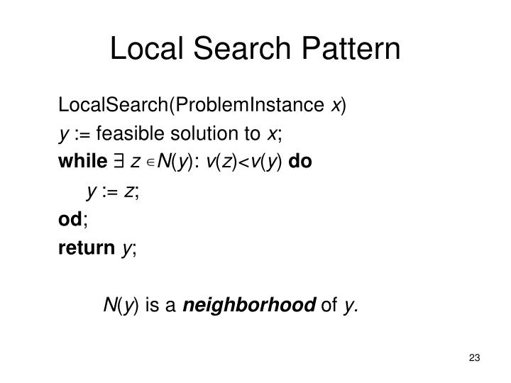 Local Search Pattern