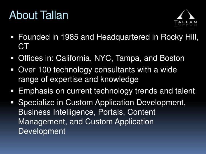 About Tallan