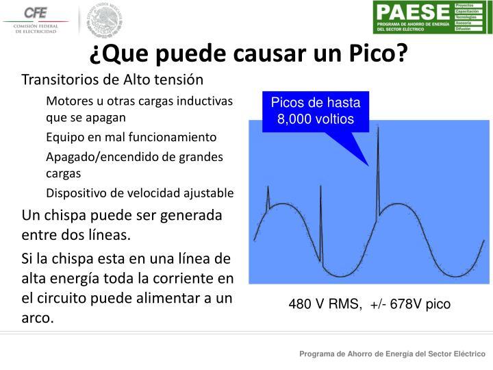 ¿Que puede causar un Pico?