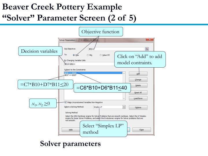 Beaver Creek Pottery Example