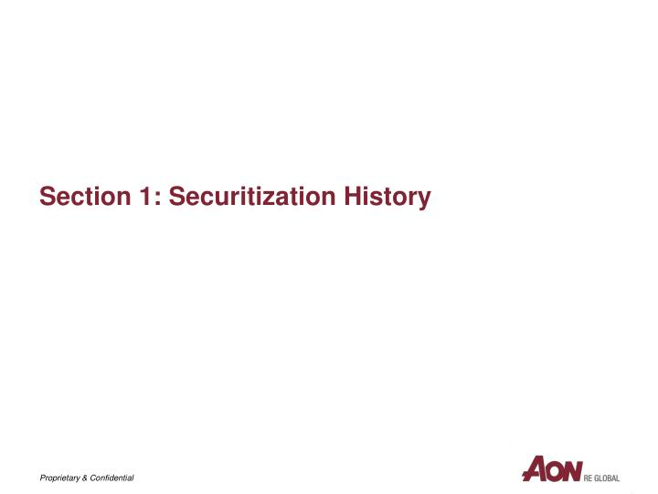 Section 1 securitization history
