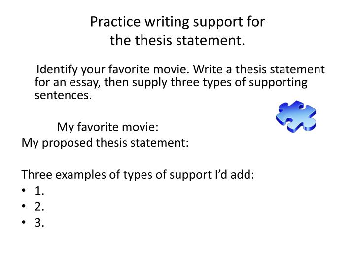 Practice writing support for
