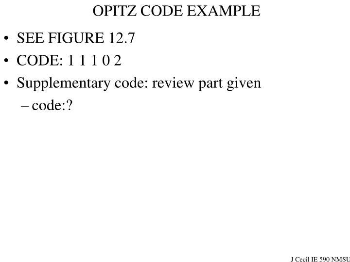 OPITZ CODE EXAMPLE