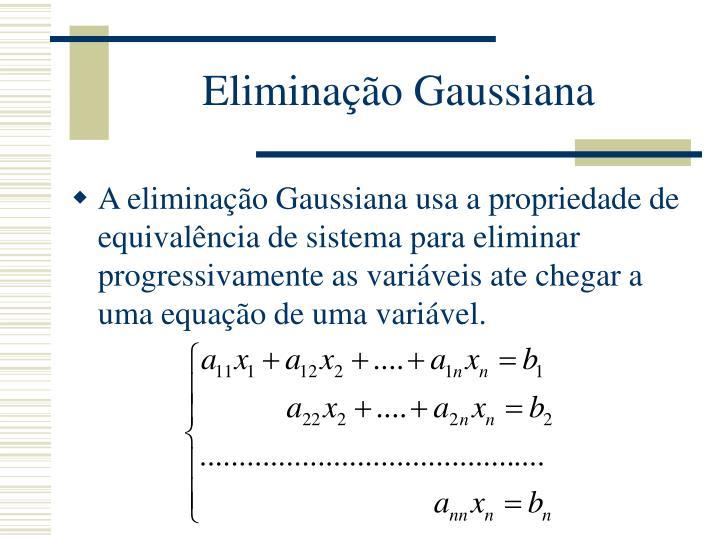 Eliminação Gaussiana