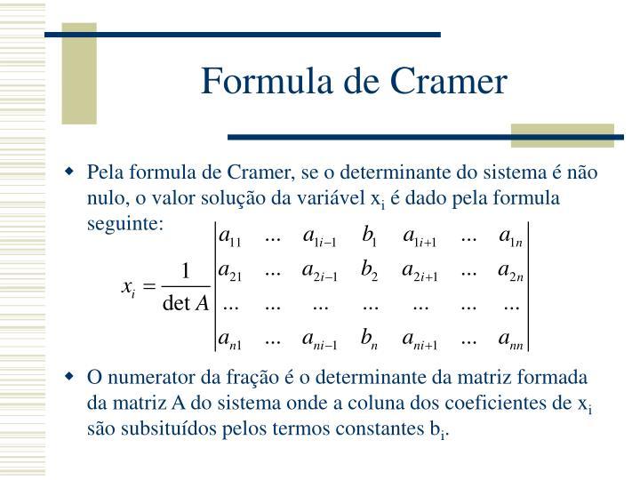 Formula de Cramer