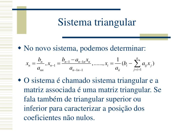 Sistema triangular