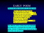 early poem