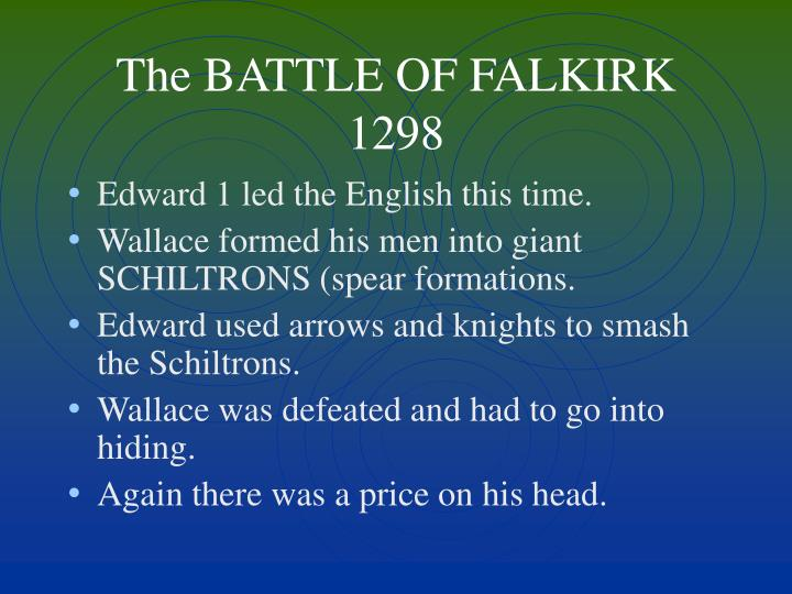 The BATTLE OF FALKIRK 1298