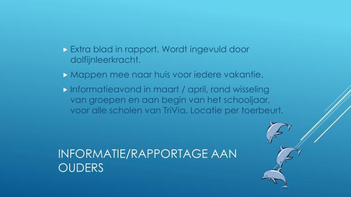 Extra blad in rapport. Wordt ingevuld door dolfijnleerkracht.